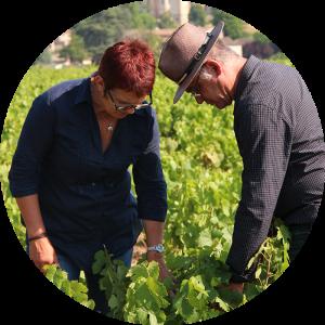Ghislaine et Patrick Péchard au domaine - Vins du Beaujolais